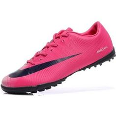 http://www.asneakers4u.com Cheap New Nike Mercurial Vapor Superfly II Victory TF Soccer Shoes Football Boots In Red Black grayout of stock