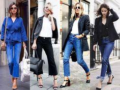 """WEBSTA @ santteestilo - #SantteTrendA calça jeans está roubando a cena no street style internacional, principalmente se ela tiver a barra da calça desfiada! Essa é a tendência que está com tudo nas ruas e o cool é ter cara de 'fui eu quem fez!"""". Aposte nas pantacourt e nas skinny.⠀#SantteTrend The jeans is stealing the scene on the international street style, especially if it has the frayed ankle jeans! This is the trend that is rocking out on the streets and the cool way is to look DIY…"""