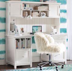 Stylish Teen Desks | Teen desk, PB Teen and Chalkboard walls