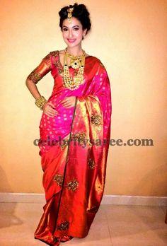 Uppada Saree with Classic Blouse   Saree Blouse Patterns