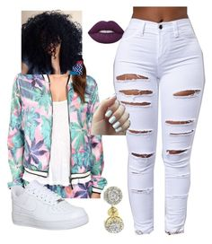 """""""Untitled #295"""" by kitty900 ❤ liked on Polyvore featuring Bench, Lime Crime and NIKE"""