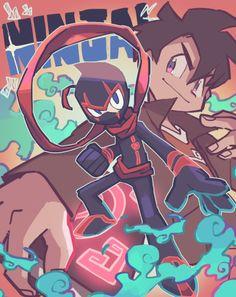 Disney & Cartoon In Anime - Randy Cunningham: Grade Ninja Cartoon Crossovers, Cartoon Tv, Cartoon Shows, Old Cartoons, Disney Cartoons, Randy Cunningham Ninja Total, Character Art, Character Design, American Dragon