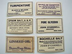 Vintage Medicine Bottle and Pharmacy Labels
