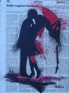 Red Umbrella Acrylic on canvas 40x30