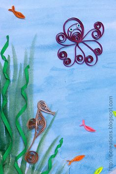quilled fish | ... . It includes the instructions for making an octopus and angel fish