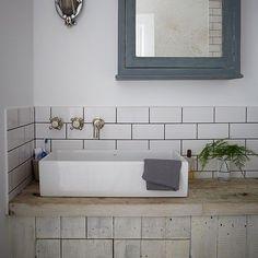 Industrial-style bathroom with metro tiles | Easy bathroom transformations | Design | housetohome.co.uk