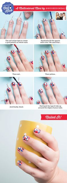 Behold, a Mondrian-esque manicure that's quite literally, a work of art.