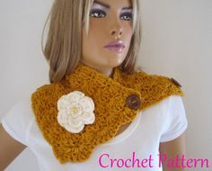 Crochet Pattern US Terms for Crochet Scarf by MELIH63 on Etsy