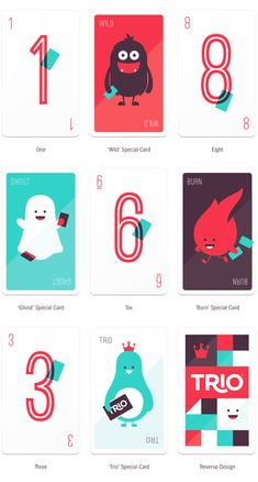Trio Card Game via @thedieline
