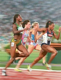 Gail Devers of the US runs the at the Olympic Stadium in Atlanta, Georgia, 27 July, to win the gold medal with a time of sec. Sports Track, Usa Sports, Olympic Sports, Olympic Team, Olympic Games, Sports Women, Track Team, Us Olympics, Runners