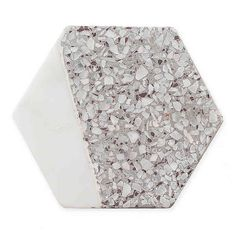 Thirstystone Hexagon Coasters In White Marble/grey Terrazzo (Set Of Multi White Coasters, Lead Edge, Terrazzo, White Marble, How To Dry Basil, Grey And White, Cleaning Wipes, Homemade, Home Decor
