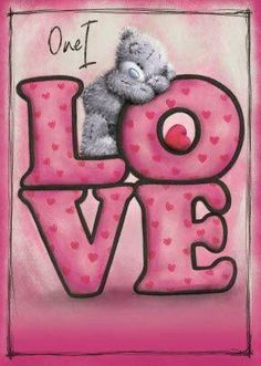 Tatty teddy one love Tatty Teddy, Illustration Mignonne, Teddy Bear Pictures, Blue Nose Friends, Love Bear, Cute Teddy Bears, Punch Art, Cute Pictures, Coloring Pages