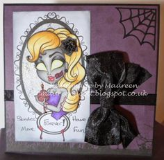 Handmade by Maureen - A Blog: Simply Betty Stamps 13 Days of Halloween 'Sexy and Scary' Challenge