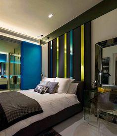 Decoracion de interiores con patrones de lineas horizontales y verticales