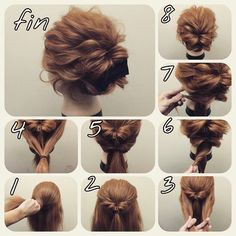 Skip to content 54 cute easy updos for long hair when in a hurry Classy to Cute: Easy hairstyles for long hair for 2017 The light chignon Sweet updos for long hair Easy Bun Hairstyles, Pretty Hairstyles, Amazing Hairstyles, Step Hairstyle, Hairstyles 2018, Makeup Hairstyle, Easy Formal Hairstyles, Evening Hairstyles, Indian Hairstyles
