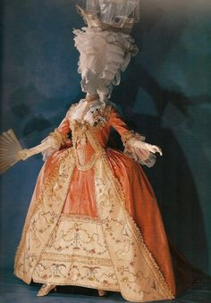 Apricot dress from the Kyoto Costume Institute, Japan