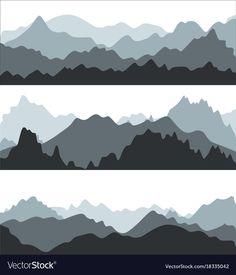 Cartoon silhouette black mountains landscape vector image on VectorStock Cartoon Silhouette, Silhouette Painting, Landscape Silhouette, Mountain Mural, Mountain Landscape, Mountain Decor, Mountain Illustration, Flat Illustration, Bedroom Murals