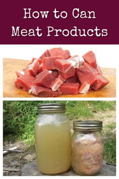 How to Can Meat Products: Canning your own meat is economical and not as hard as you might think! Find out how with this step-by-step guide to safe canning. via @survivalwoman