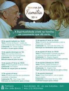 Semana da Família 2014   Igreja Católica Apostólica Romana   Diocese de São José dos Campos