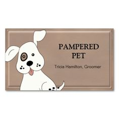 Pet Groomer/ Vet Business Card. This is a fully customizable business card and available on several paper types for your needs. You can upload your own image or use the image as is. Just click this template to get started!