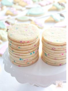 Confetti Cut Out Sugar Cookies - # Cut Out # Confetti # . - Confetti cut out sugar cookies – # cut out # Sugar cookies Confetti cut out sugar cooki - Cut Out Cookie Recipe, Cut Out Cookies, Sugar Cookies Recipe, No Bake Cookies, Cookies Et Biscuits, Cookie Recipes, Cut Recipe, Baking Cookies, Royal Cookie Recipe