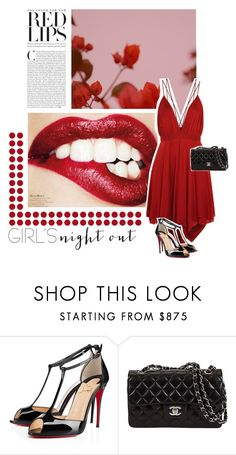"""""""Slay the night"""" by kfpartick ❤ liked on Polyvore featuring GUINEVERE, Christian Louboutin and girlsnightout"""