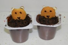 Groundhog Day pudding cups- made these for the kids this year