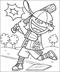 baseball coloring pages - Sports Pictures To Colour