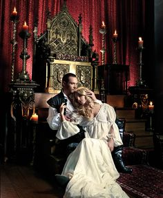The Tudors (2007 - 2010) Starring: Jonathan Rhys Meyers as Henry VIII of England and Annabelle Wallis as Queen Jane (Seymour). (click thru for high res)