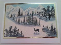 Stampscape Mountain Scene by sassysaschi - Cards and Paper Crafts at Splitcoaststampers