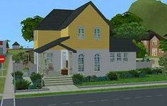 Mod The Sims - Bluebell Cottage Sims 2 House, Casas The Sims 4, Open Plan Kitchen, Sims Cc, Little Houses, Kitchen Living, Ground Floor, The Expanse, Night Life
