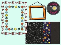 Space ClipartSpace themed borders, papers and frames includes: 8 PNG images - 300 dpi - Crisp! fun borders, frame and papers all space themed! (Everything you see!) B&W INCLUDED!Great for-classroom decor-theme creations-science compliments-and more!For Space Themed Clipart Images, follow this link:https://www.teacherspayteachers.com/Product/Space-clipart-TeacherToTeacher-Clipart-space-clip-art-1949335********************************************************All Clipart Images are the intell...