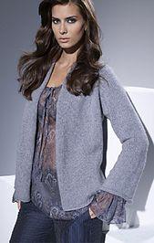 Ravelry: #09 Jacket Solocashmere pattern by Lana Grossa