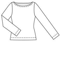 Пуловер - выкройка № 108 A из журнала 2/2009 Burda – выкройки пуловеров на Burdastyle.ru