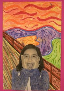 """WHAT'S HAPPENING IN THE ART ROOM??: 4th GRADE--""""The Scream"""""""
