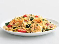 Healthified Garlic Shrimp Pasta