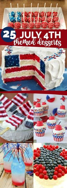 25 4th of July Themed Dessert Ideas
