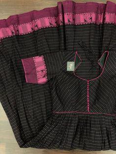 Custom-made dress – VIKA Boutique Fancy Blouse Designs, Sari Blouse Designs, Designs For Dresses, Churidar Designs, Kurta Designs Women, Lehenga Designs, Long Dress Design, Kalamkari Dresses, Long Gown Dress