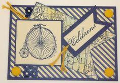Cartes artisanales et autres projets artistiques de Liz: Une carte d'anniversaire au masculin! Creations, Art Projects, Masculine Cards, Artist
