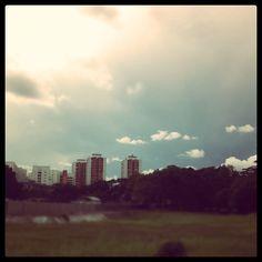 Fluffy #clouds #sunset #sky #singapore #sg  #iphone4s #guosheng #guoshengz