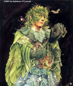 GREEN MAN   The Green Man comes and he dances all day The Green Man comes and he is gone away Turn and he turns in a year and a day Green Ma...