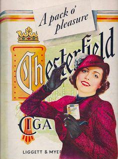 1937. Chesterfield Cigarettes.