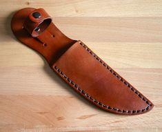 Knife Sheath. Leather knife sheath for 5 blade by FatCatLeather
