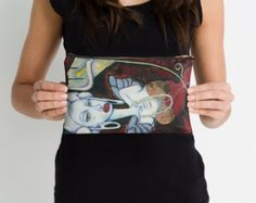 Art Pencil Case I SEE Right Through You acrylic by ElaSteelArt