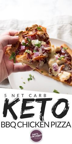 Keto Barbecue Chicken Pizza is one of our all-time favorite low carb pizza options perfect for pizza night any night. Cut the carbs not the flavor when it comes to your pizza. #healthychicken Low Carb Recipes, Real Food Recipes, Great Recipes, Healthy Recipes, Diabetic Recipes, Dinner Recipes, Barbecue Chicken Pizza, Chicken Meals, Healthy Chicken