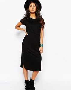 ASOS | ASOS Waisted T-shirt Midi Dress