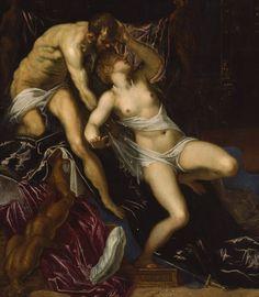 Tintoretto- Tarquin and Lucretia, c.1578/80