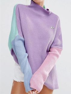 Harajuku Patchwork Sweater