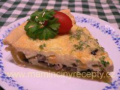 Křehký koláč se žampiony Quiche, Pizza, Breakfast, Food, Morning Coffee, Essen, Quiches, Meals, Yemek