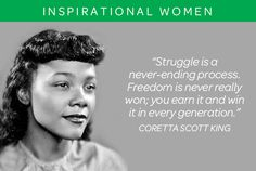 Coretta Scott King was an American author, activist, and civil rights leader. The widow of Martin Luther King, Jr., Coretta Scott King helped lead the African-American Civil Rights Movement in the 1960s. #civilrights #girlscouts